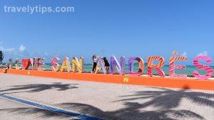 Letrero I love San Andres