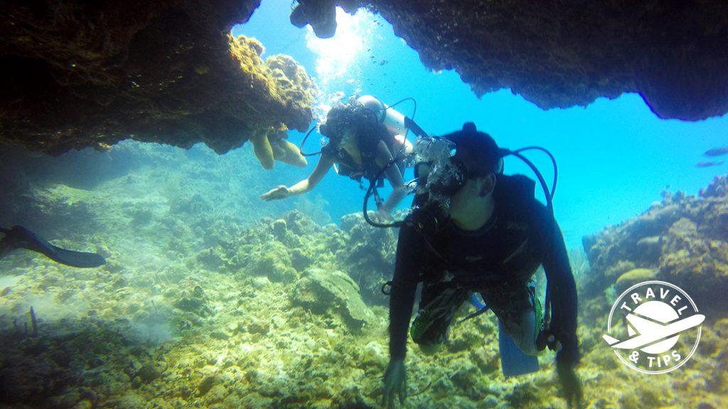Cavernas y mucha vida submarina