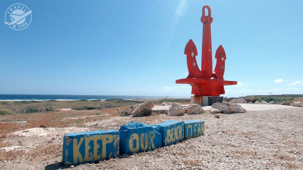 Ancla roja, Aruba
